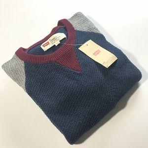 🚹 LEVI'S men's knitted baseball style sweater